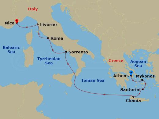 Görög-olasz hajóút hajóút