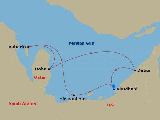 Dubai, Qatar, Bahrein hajóút