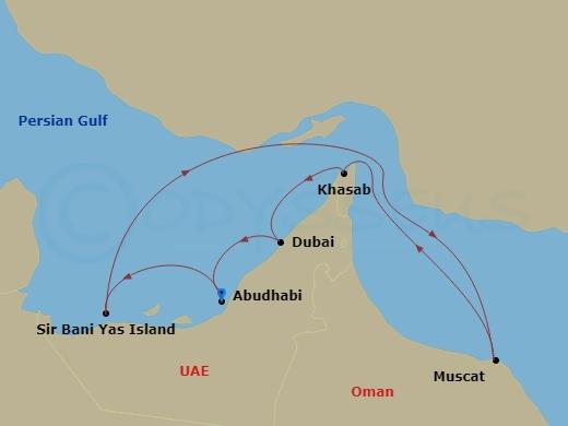 Arab-öböl hajóút Abu Dhabiból hajóút