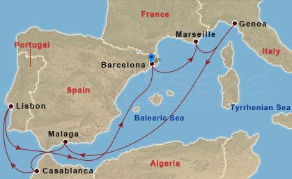 Lisszabon, Casablanca hajóút