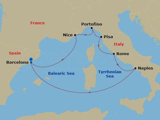7 NIGHT ITALY, FRANCE & SPAIN CRUISE hajóút