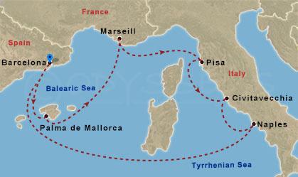 Nyugat-mediterrán élmények hajóút