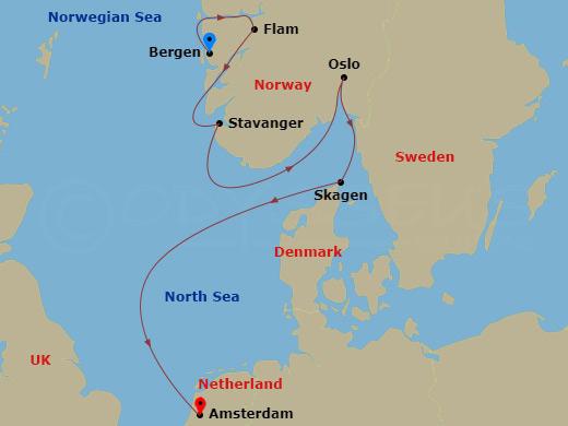 Bergen, Oslo és a fjordok hajóút
