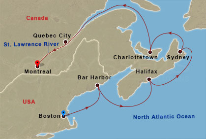 Bostonból Montrealba hajóút
