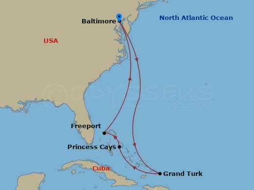 Bermudák és Grand Turk hajóút