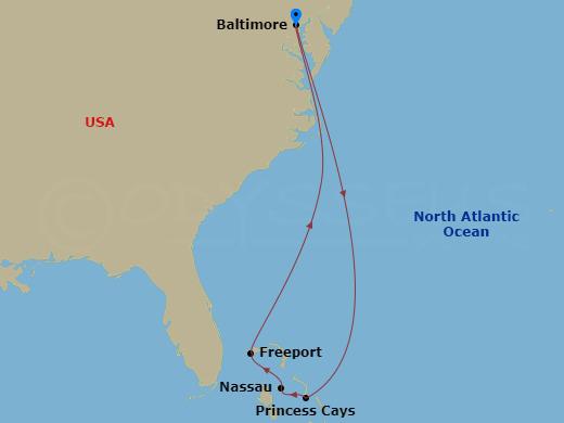 3 nap a Bahamákon hajóút