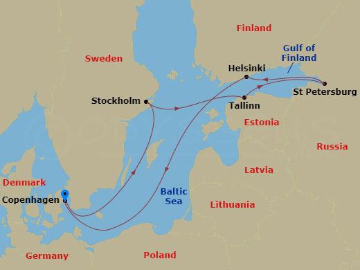 7 NIGHT SCANDINAVIA & RUSSIA CRUISE hajóút