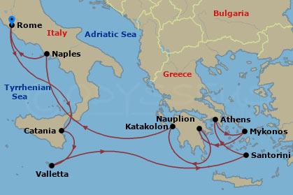 Festői mediterrán szigetek hajóút