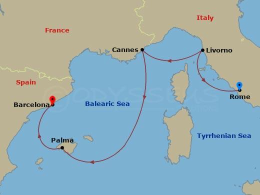 Mediterrán napfény hajóút