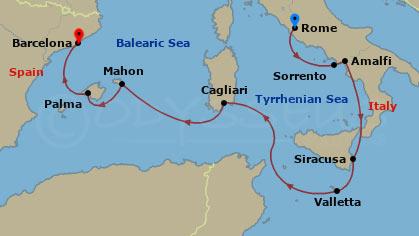 Csodálatos mediterrán szigetek hajóút
