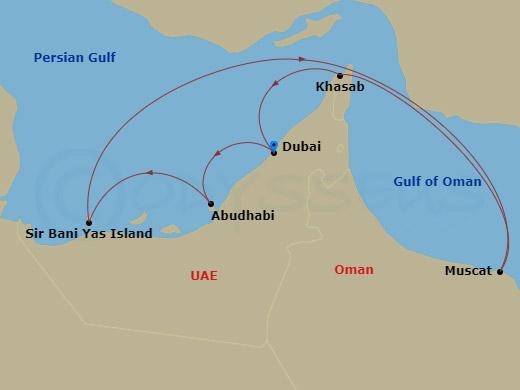 Dubai, Omán hajóút