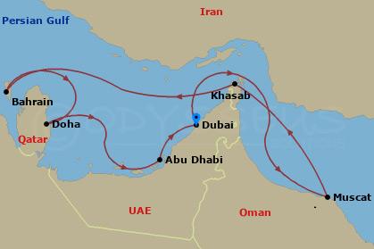 Omán, Bahrein, Qatar hajóút