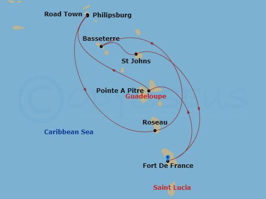 Dél-karib kincsek hajóút