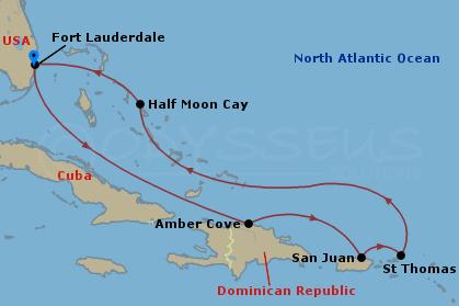 Kelet-karib szigetek hajóút