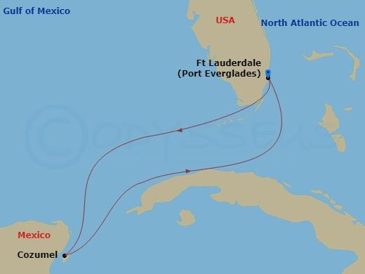 Kiruccanás Mexikóba hajóút
