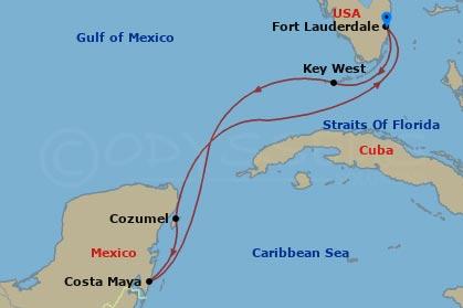 Florida, Mexikó hajóút