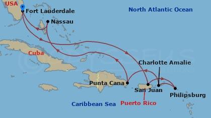 Kelet-karib kirándulás hajóút