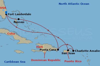 Dominika, Puerto Rico hajóút