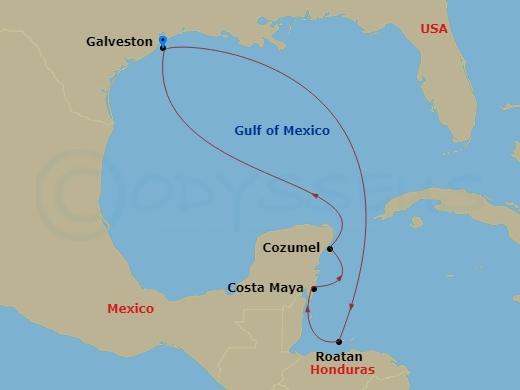 Mexikó és Honduras hajóút