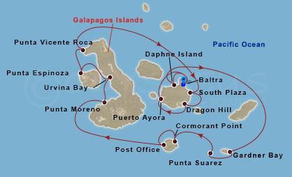 Galapagosz-szigetek külső kör hajóút
