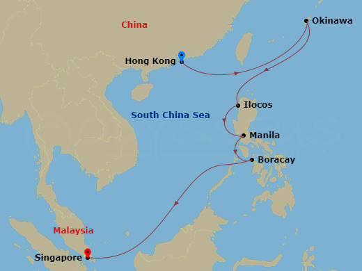 9 NIGHT JAPAN & PHILIPPINES CRUISE hajóút