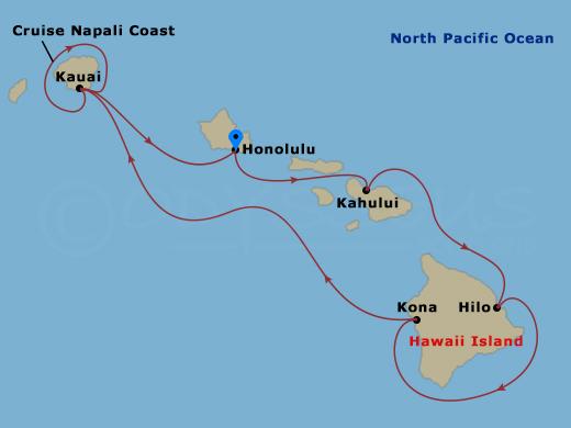 Hawaii körutazás hajóút