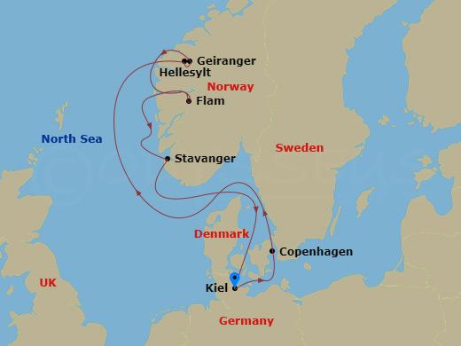 Norvég fjordok hajóút