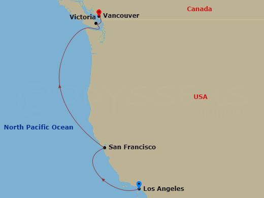 Repo - Pacific Coastal hajóút