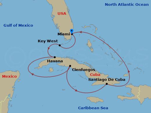 Kuba megkerülése hajóút