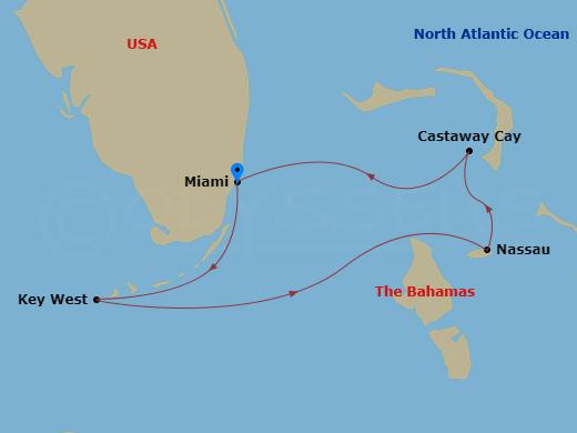 Nassau, Castaway Cay, Key West hajóút
