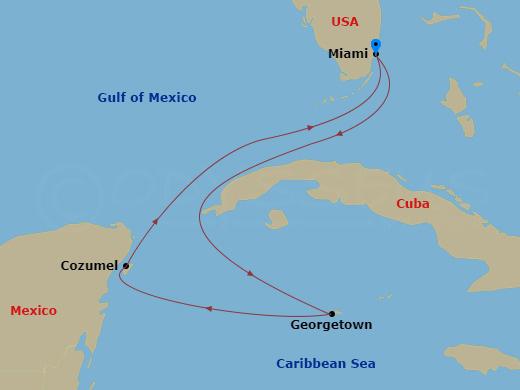Nyugat-karib látvány hajóút