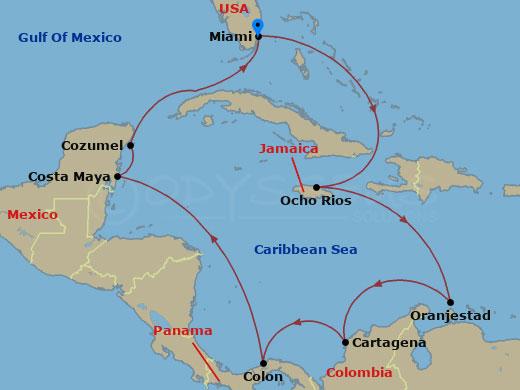 Nagy karib körút hajóút