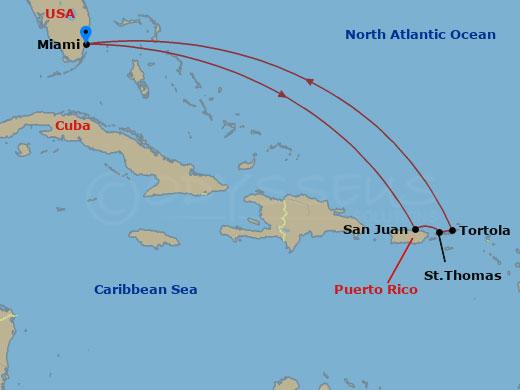 Kelet-karib pihenés hajóút