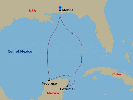 2 nap Mexikóban hajóút