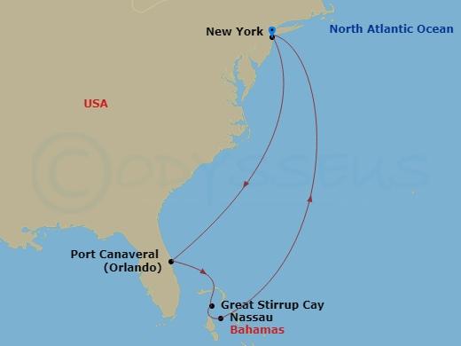 Manhattanből Floridába és a Bahamákra hajóút