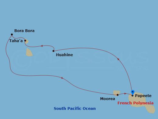 Tahiti & Society Islands hajóút