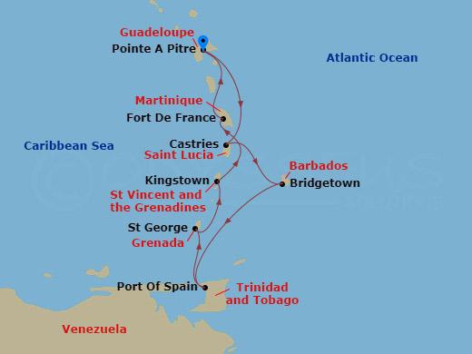 Dél-karib gyöngyszemek hajóút