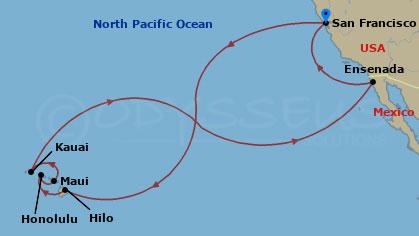 Hajóút a Hawaii-szigetekre hajóút