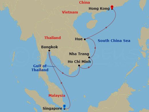 9 NIGHT THAILAND & VIETNAM CRUISE hajóút