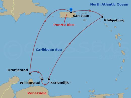 Aruba, Bonaire, Curacao 2 hajóút