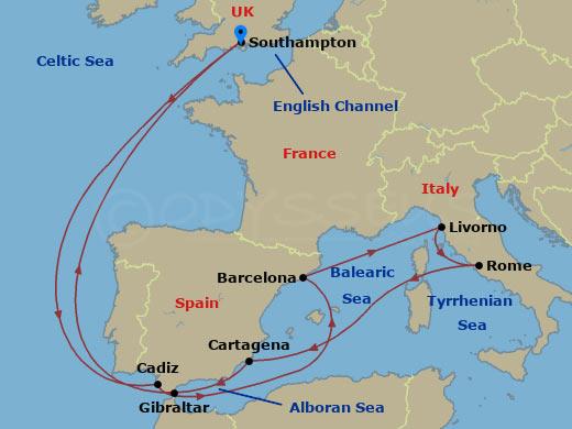 Londontól Rómáig hajóút
