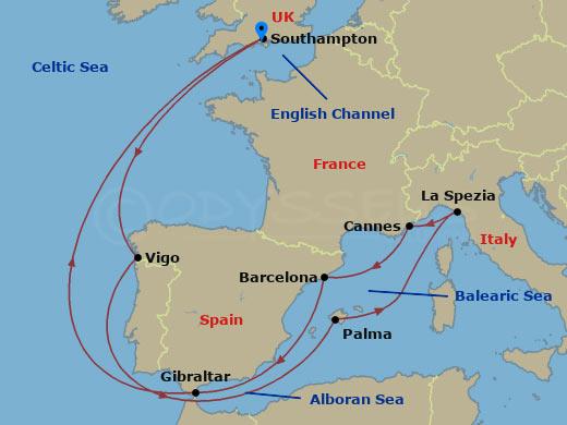Mediterrán hajóút Londonból hajóút