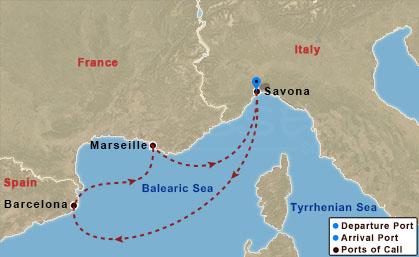 Barcelona, Marseille hajóút
