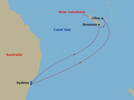 Kiruccanás Új-Kaledóniára hajóút