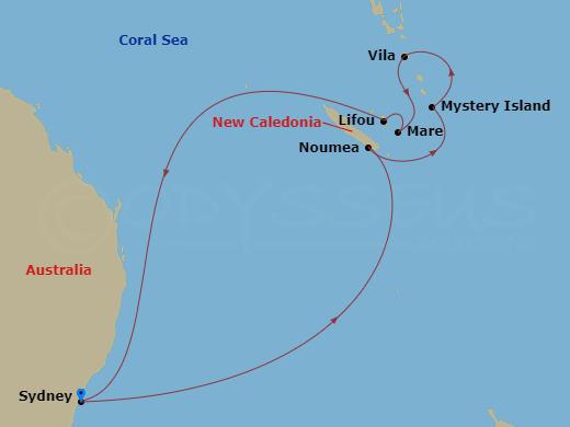 Új-Kaledónia és Vanuatu hajóút