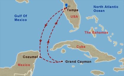 Mexikó és Nagy Kajmán hajóút