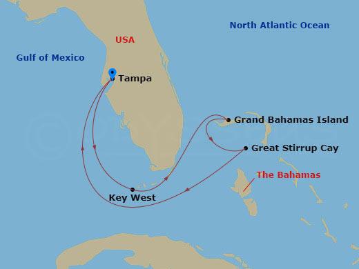 Florida és Bahamák hajóút