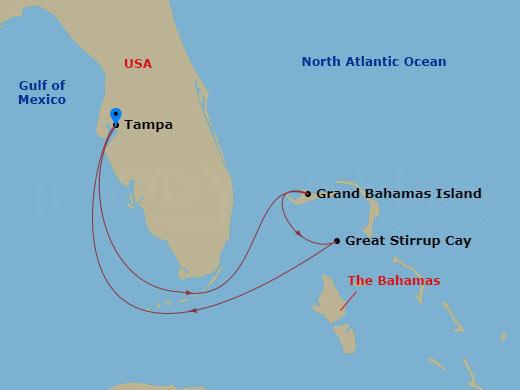 2 nap a Bahamákon hajóút