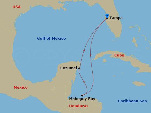 Honduras és Mexikó hajóút