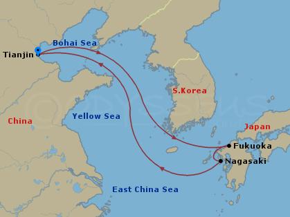 5 Night Fukuoka & Nagasaki Cruise hajóút